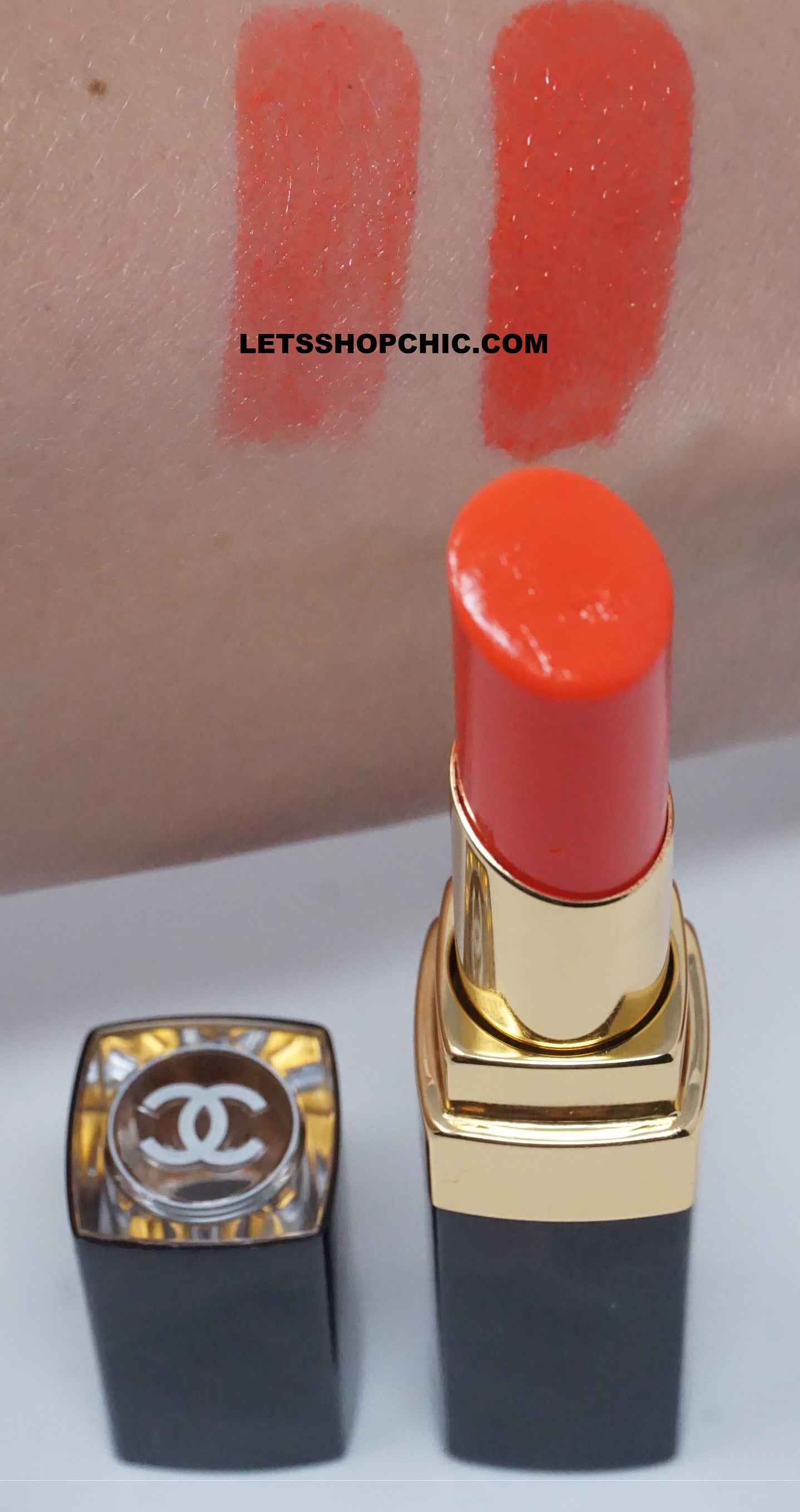 Chanel Rouge Coco Flash Lipstick 60 Beat swatch