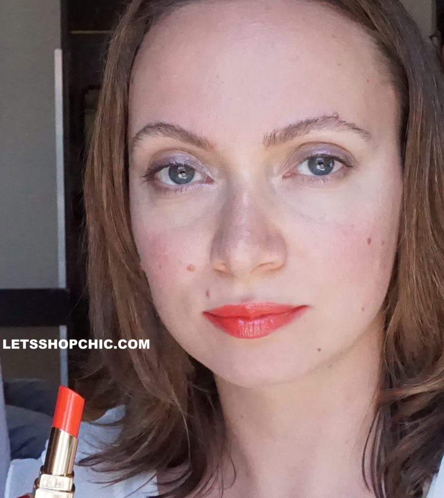 Chanel Rouge Coco Flash Lipstick 60 Beat on lips