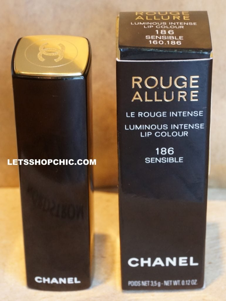 Chanel Rouge Allure Lipstick 186 Sensible packaging