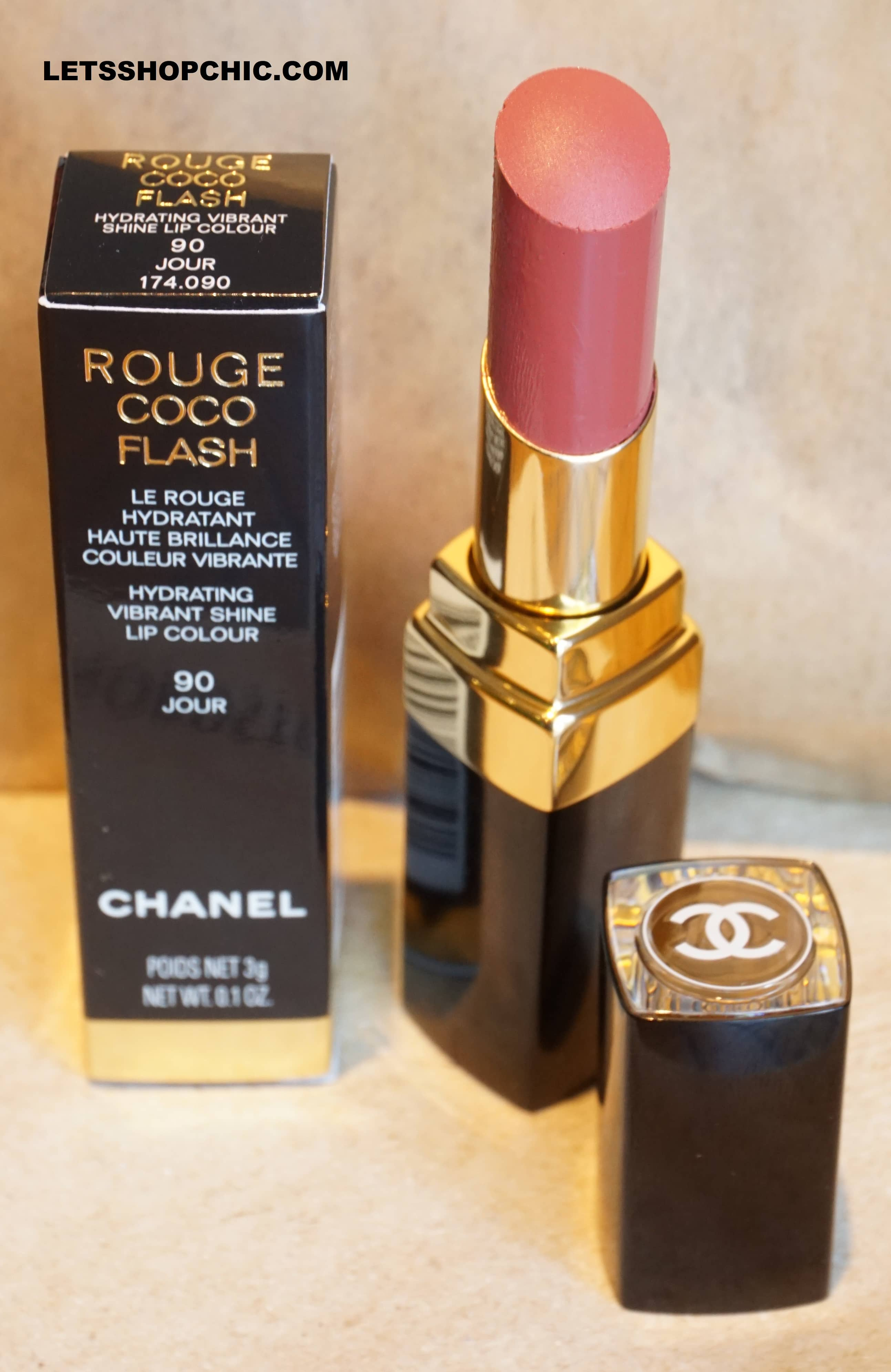 Chanel Rouge Coco Flash Lipstick 90 Jour packaging