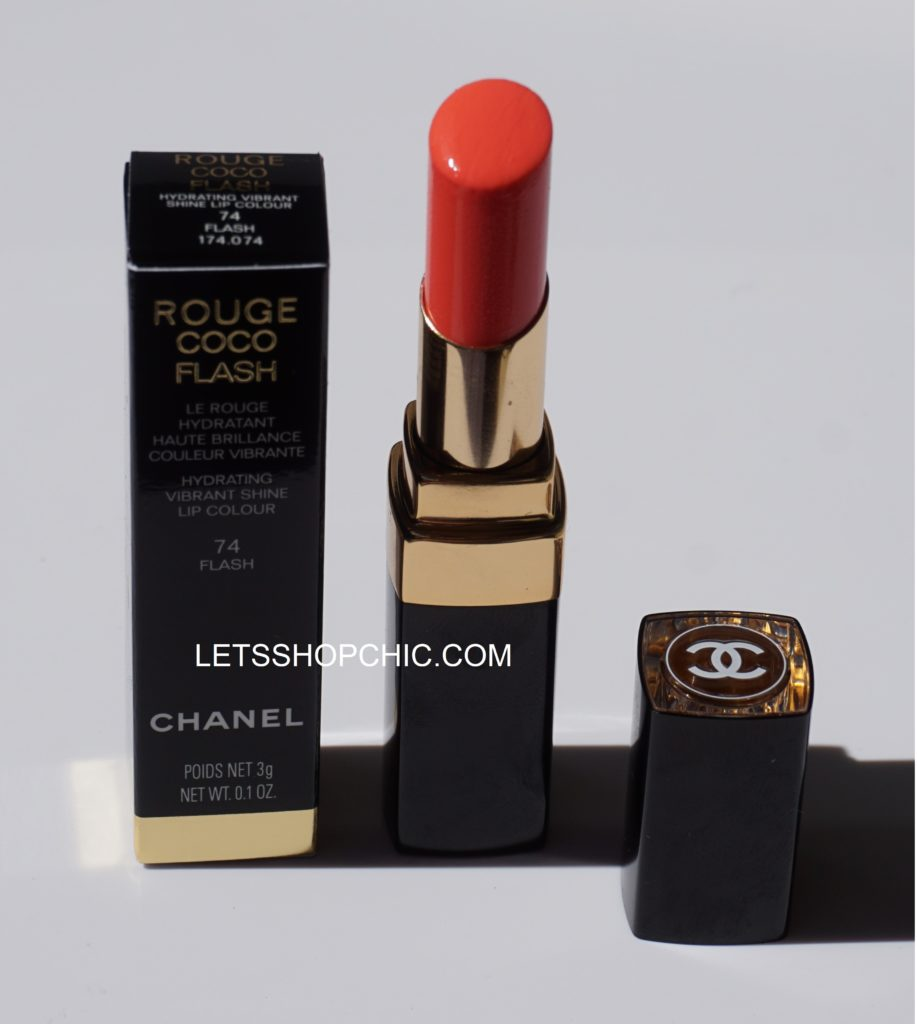Chanel Rouge Coco Flash Lipstick 74 Flash packaging