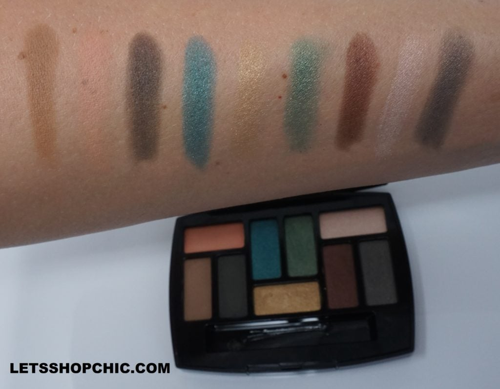 Chanel Les 9 Ombres Eyeshadow Palette Edition #1 - Affresco swatches