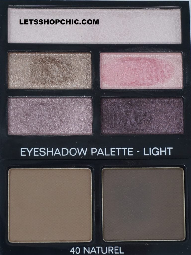 Chanel Les Beiges Healthy Glow Natural Eyeshadow Palette - Light and Chanel Brow Powder Duo Palette 40 Natural
