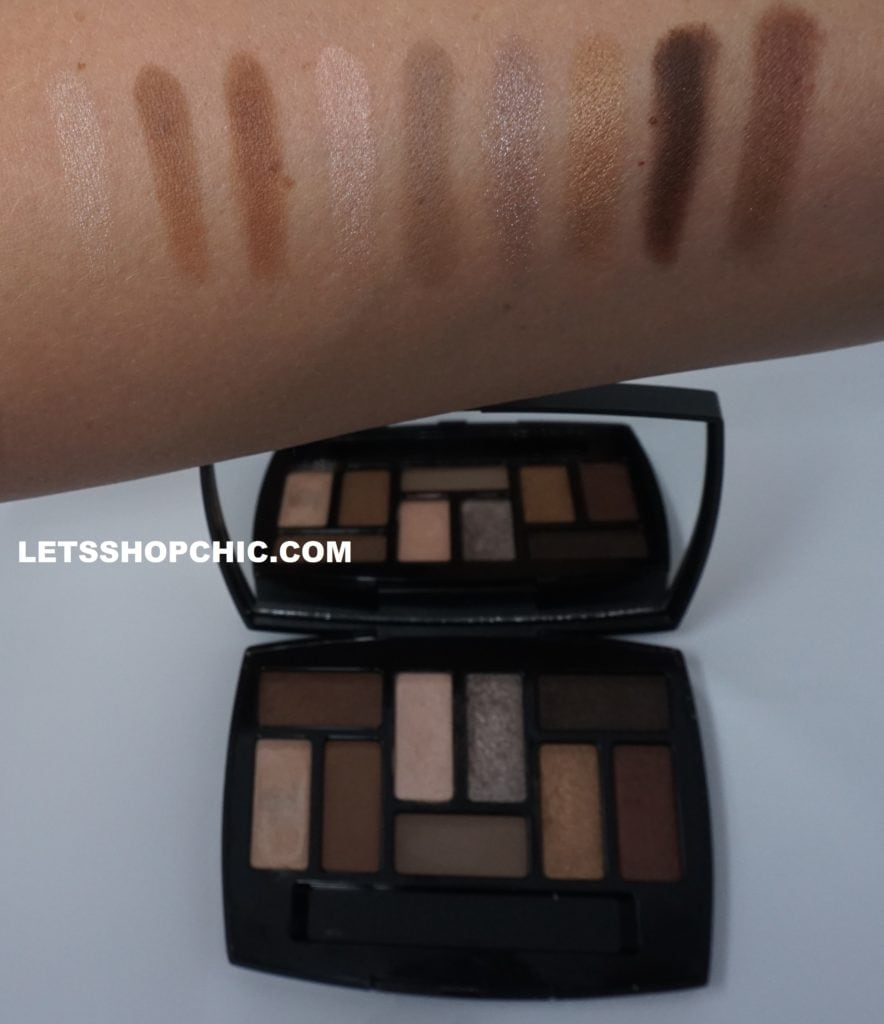 Chanel Les Beiges Natural Eyeshadow Collection Les Indispensables swatch