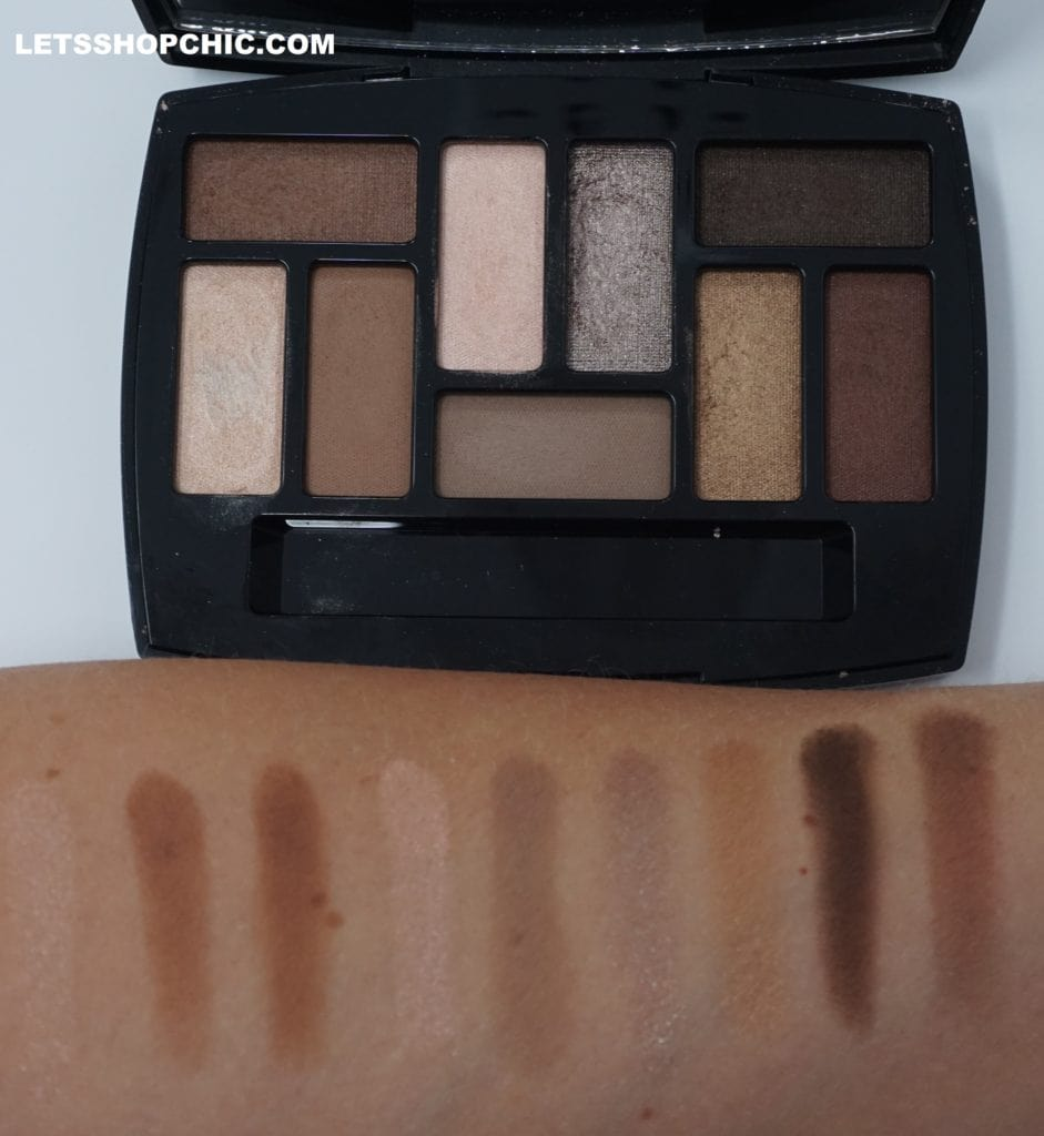 Chanel Les Beiges Natural Eyeshadow Collection Les Indispensables swatches