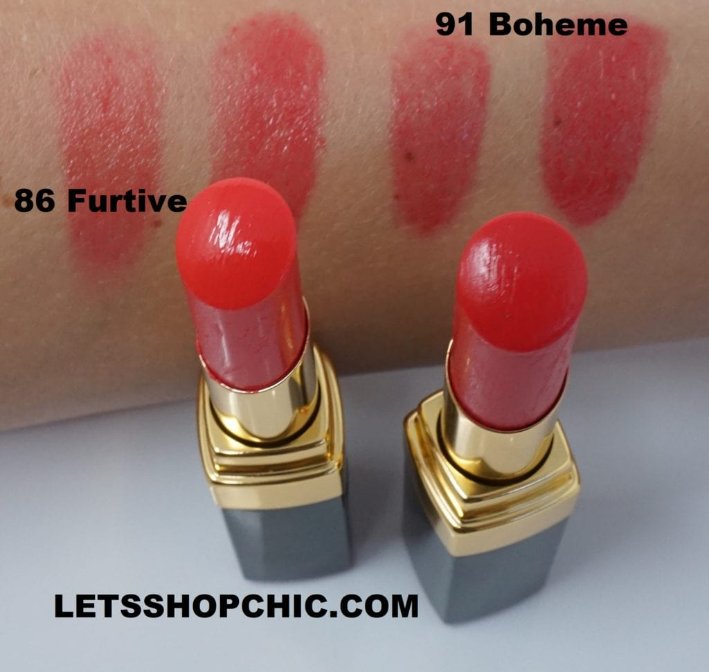 Chanel Rouge Coco Flash Lipstick 86 Furtive Let S Shop Chic