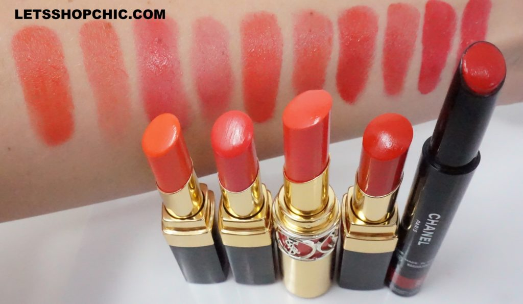 Chanel Rouge Coco Flash Lipstick 66 Pulse swatch