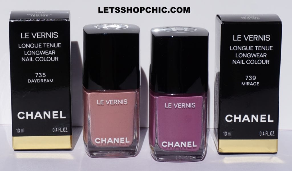 Chanel Le Vernis nail polish 735 Daydream and 739 Mirage