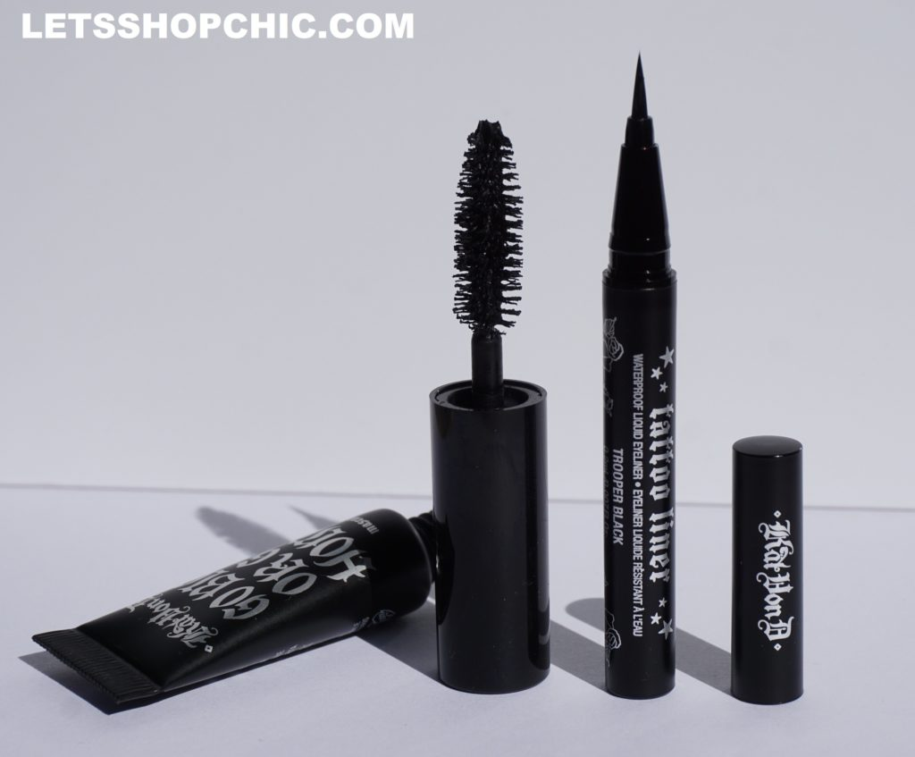 Kat Von D Liquid Eyeliner and Kat Von D 'Go Big or Go Home' Mascara