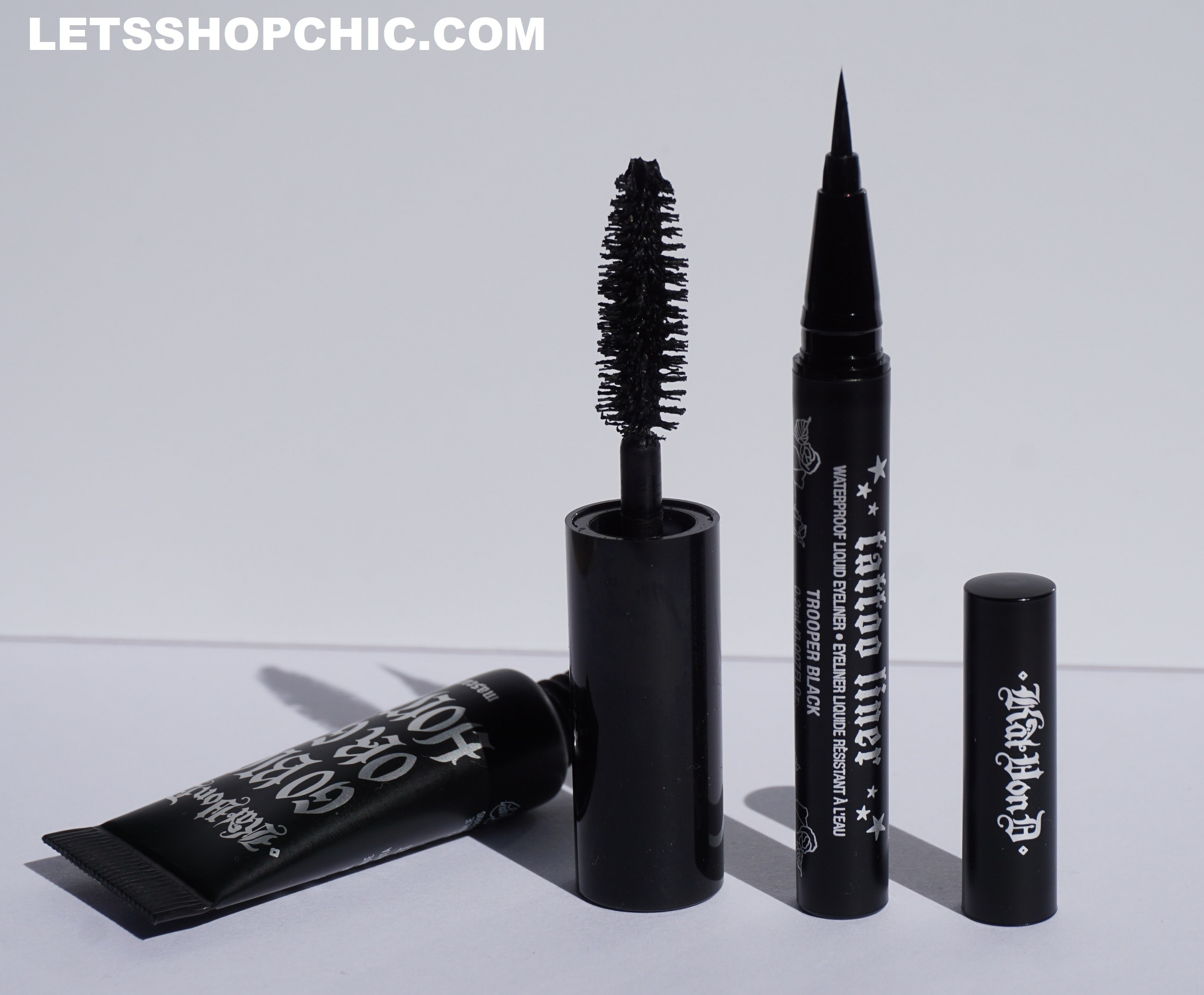 Kat Von D Liquid Eyeliner and 'Go Big or Go Home' Mascara