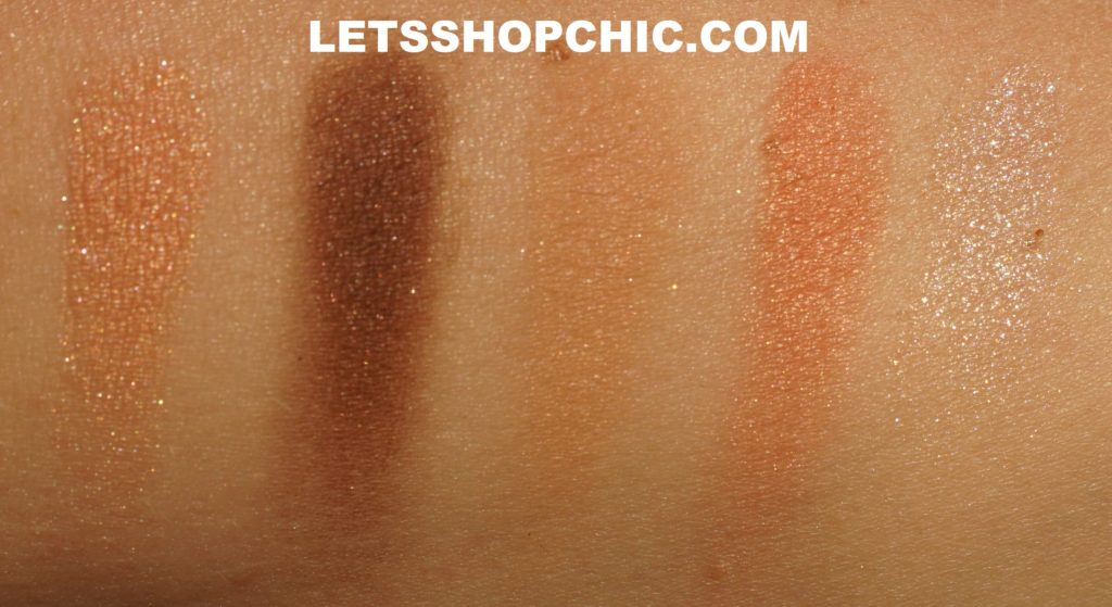 Chanel Les Beiges Healthy Glow Natural Eyeshadow Palette Warm swatches