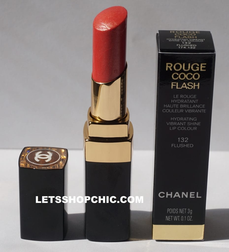 Chanel Rouge Coco Flash 132 Flushed packaging