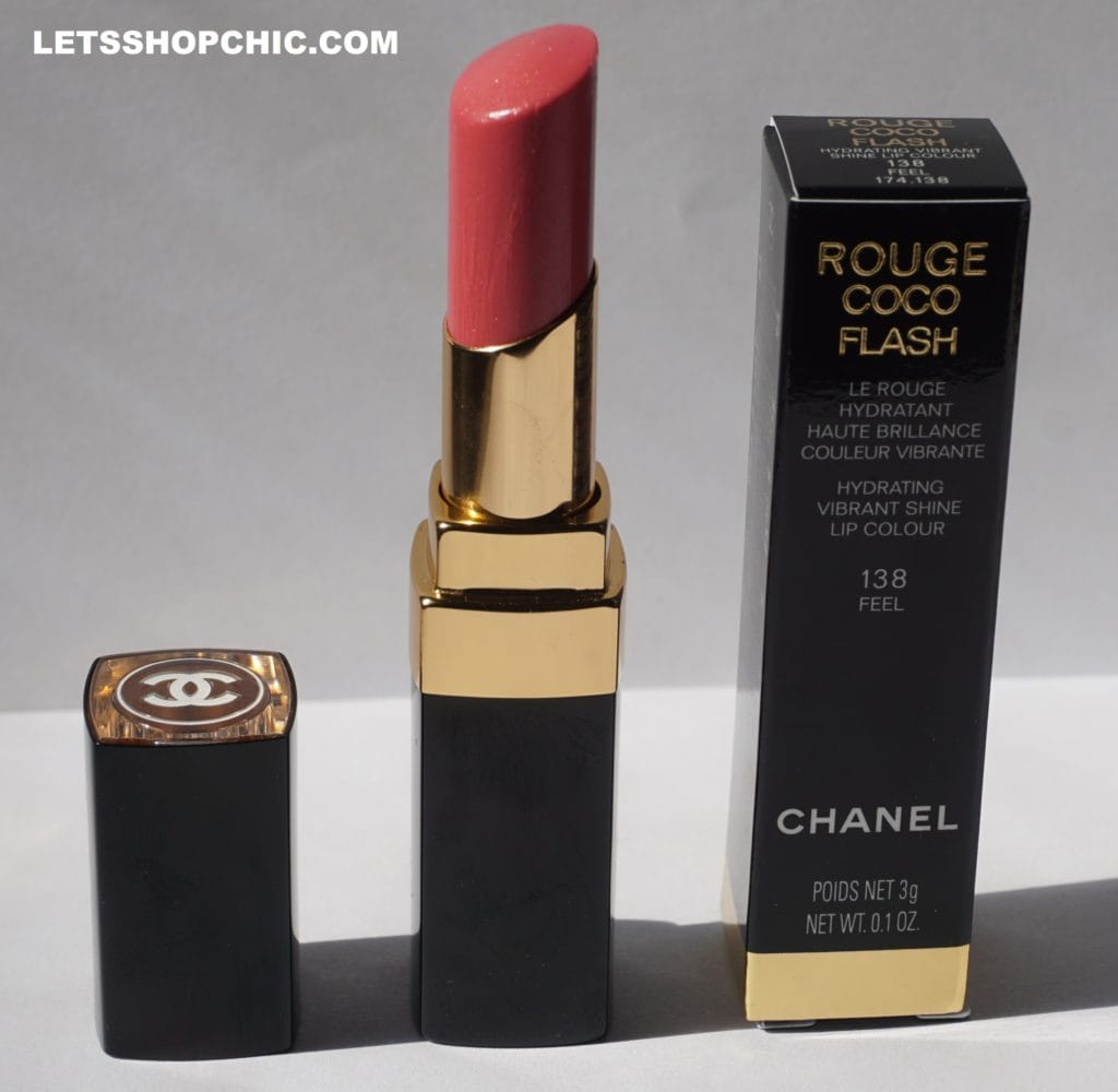 Chanel Rouge Coco Flash lipstick 138 Feel packaging