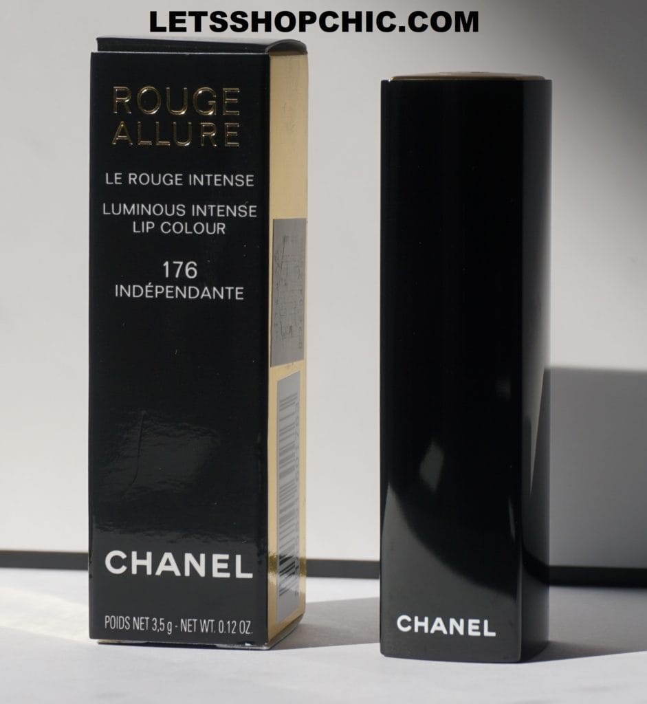 Chanel Rouge Allure Lipstick 176 Independante packaging