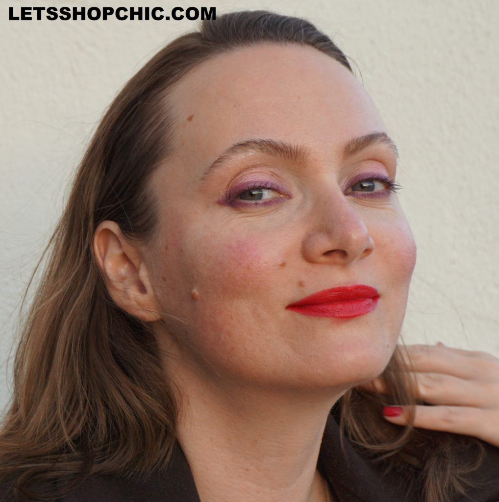 Chanel Rouge Allure Velvet Lipstick 257 Rouge Triomphal ON LIPS