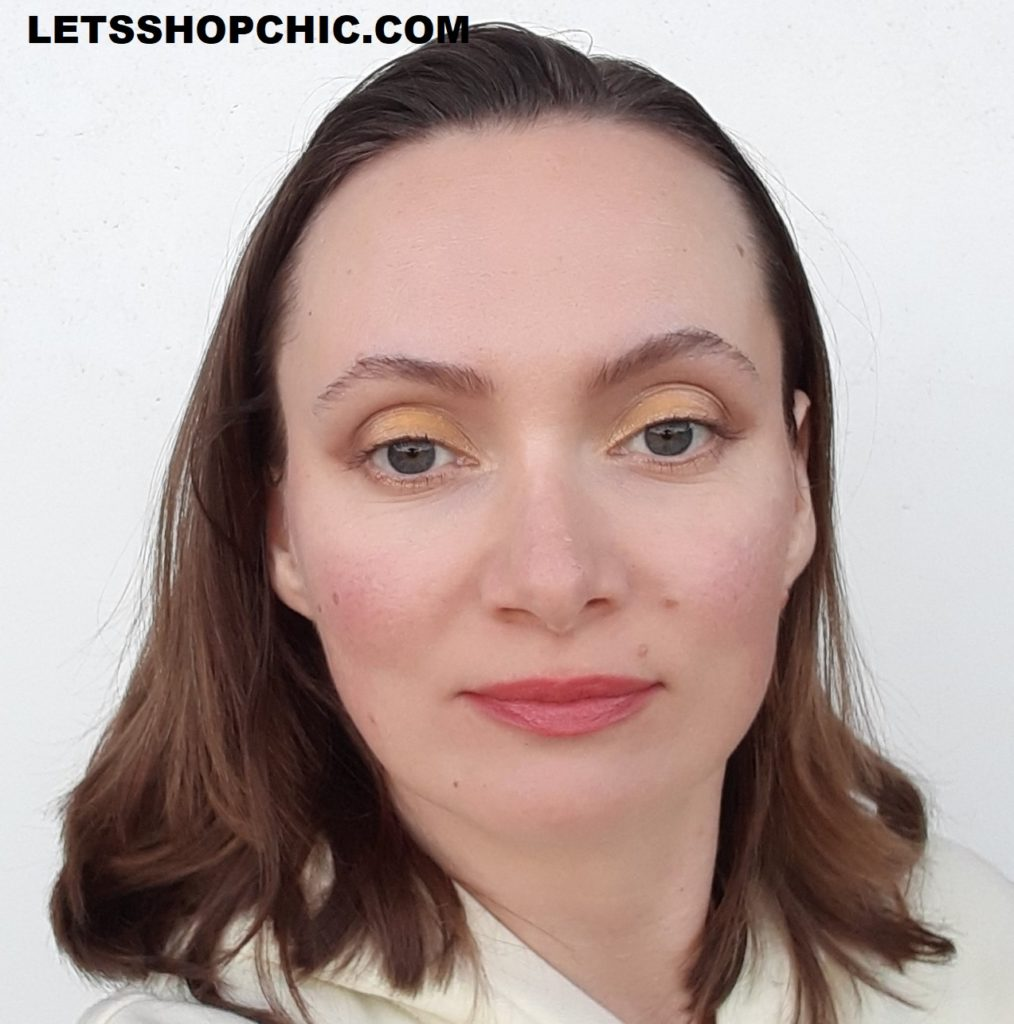 2021 YSL Rouge Pur Couture Lipstick 155 Nu Imprevu on lips
