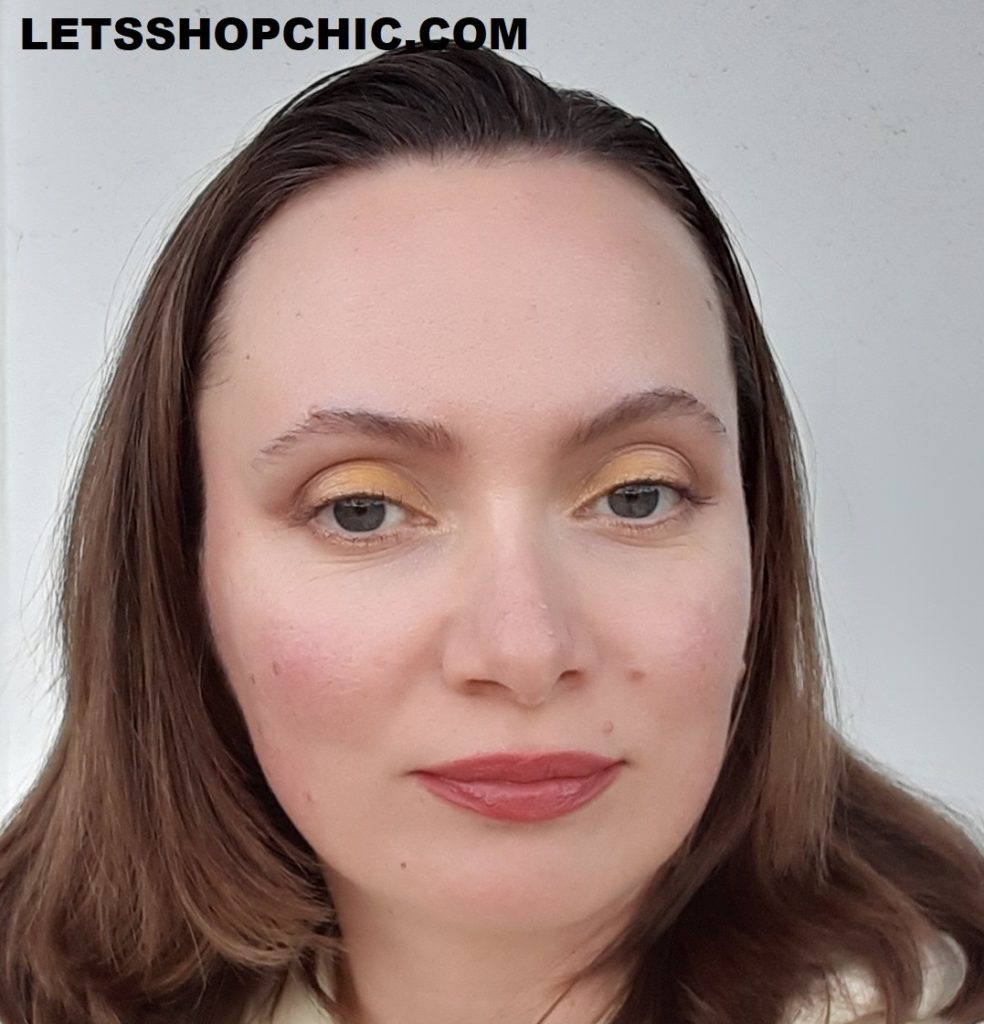 2021 YSL Rouge Pur Couture Lipstick156 Nu Transgression on lips